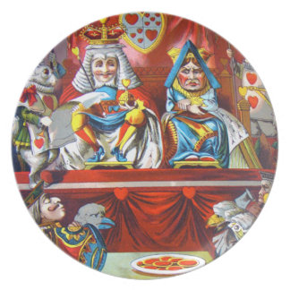 ハートの悪党-不思議の国のアリスの試験 ディナー皿