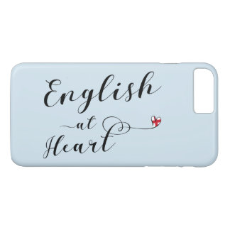 ハートの携帯電話の箱の英語 iPhone 8 PLUS/7 PLUSケース