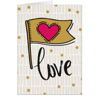 ハートの旗愛 カード