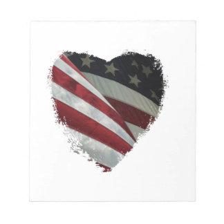 ハートの旗 ノートパッド