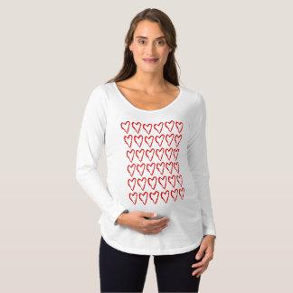 ハートの母性の上 マタニティTシャツ