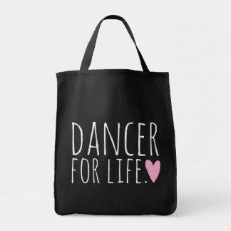 ハートの生命黒のためのダンサー トートバッグ