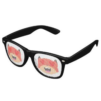 ハートの目のキツネガラス レトロサングラス