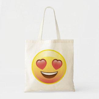 ハートの目幸せな愛Emojiのトートバック トートバッグ