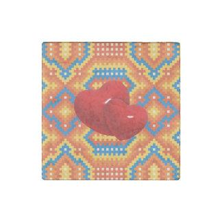 ハートの石造りの磁石のタイル ストーンマグネット