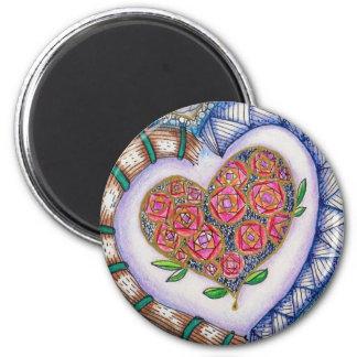 ハートの磁石、元の芸術 マグネット