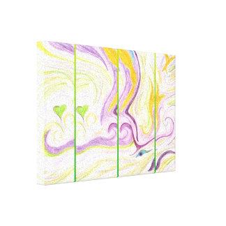 ハートの精神のキャンバスプリントの緑Mutlicolour キャンバスプリント