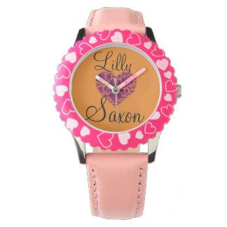 ハートの腕時計の子供 腕時計
