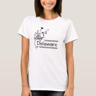 ハートの花の州および場所のTシャツ Tシャツ