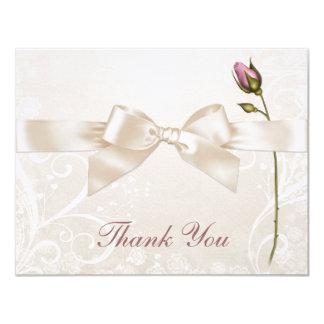 ハートの華麗さのバラは平らなカード感謝していしています カード
