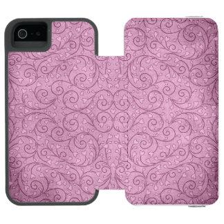ハートの葉のつる植物のラベンダーのバイオレットの例 INCIPIO WATSON™ iPhone 5 財布 ケース
