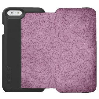 ハートの葉のつる植物のラベンダーのバイオレットの例 INCIPIO WATSON™ iPhone 6 財布ケース