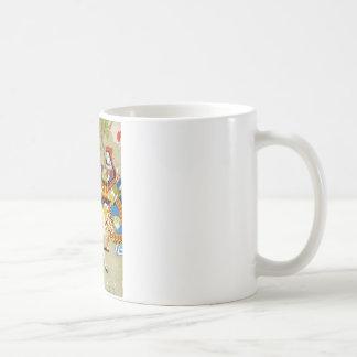 ハートの裁判所の女王のアリスそしてウサギ コーヒーマグカップ