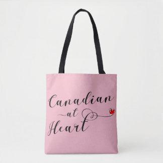 ハートの買い物袋、カナダのカナダ人 トートバッグ