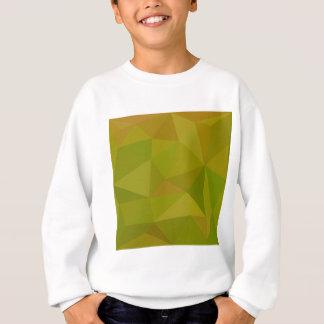 ハートの金ゴールドの緑の抽象芸術の低い多角形の背景 スウェットシャツ
