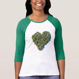ハートの雑草のワイシャツ Tシャツ