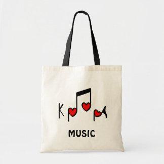ハートの韓国のポップミュージック!  KPOP! トートバッグ