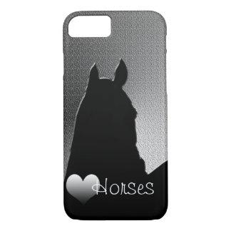 ハートの馬Iの(銀製のハート) iPhone 7の場合 iPhone 8/7ケース