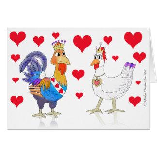 ハートの鶏王そして女王 カード