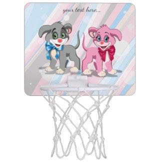 ハートの鼻の子犬の漫画 ミニバスケットボールネット