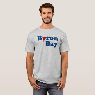 ハートのByron湾 Tシャツ