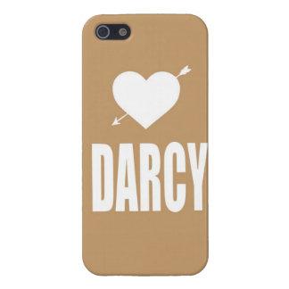ハートのDarcyの黄褐色のiphoneの箱 iPhone 5 カバー