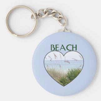 ハートのDestinのビーチ キーホルダー