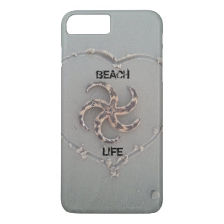 ハートのiphoneの場合の生命ヒトデを浜に引き上げて下さい iPhone 8 plus/7 plusケース