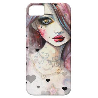 ハートのiPhone 5の場合を持つゴシック様式ファンタジーの女の子 iPhone SE/5/5s ケース