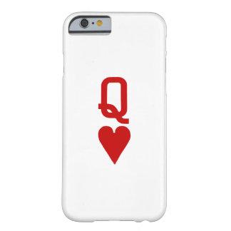 ハートのiPhone 6/6Sのやっとそこに場合の女王 Barely There iPhone 6 ケース