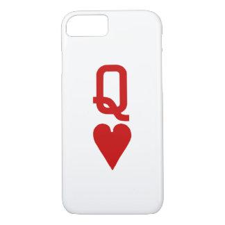 ハートのiPhone 7のやっとそこに場合の女王 iPhone 8/7ケース