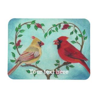 ハートのshapの枝芸術の基本的な愛鳥 マグネット