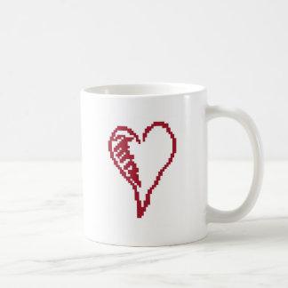 ハートのsquiggle コーヒーマグカップ