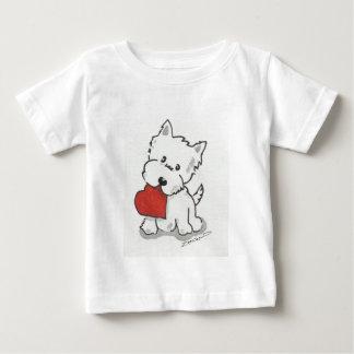 ハートのWestie ベビーTシャツ