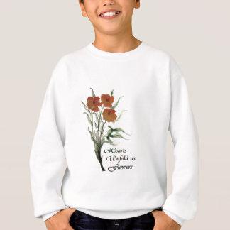 ハートは花として開きます スウェットシャツ