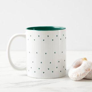 ハートは2つの調子のマグを縞で飾ります ツートーンマグカップ