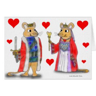 ハートカードのラット王そして女王 カード