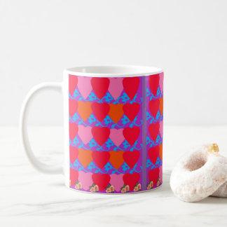 ハートテーマのコーヒー・マグ コーヒーマグカップ
