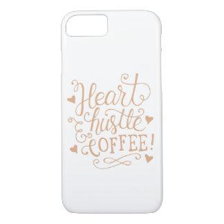 """""""ハートハッスル及びコーヒー""""のばら色の金ゴールドのiPhone 7の箱 iPhone 8/7ケース"""