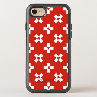 ハートパターンが付いているスイス連邦共和国の旗 オッターボックスシンメトリーiPhone 8/7 ケース