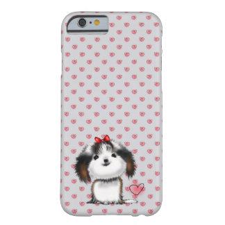 ハートパターンのシーズー(犬)のTzuの小さい子犬 Barely There iPhone 6 ケース
