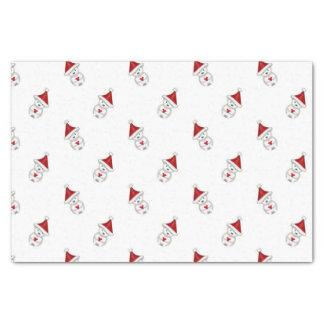 ハートパターンを握っている少しクリスマスの白くま 薄葉紙