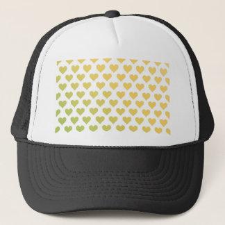 ハートパターン-レモンライムの柑橘類の勾配 キャップ