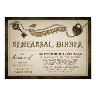 ハートロックの合い鍵のリハーサルの夕食の招待 カード