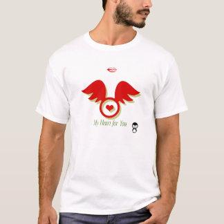 ハート及びキス Tシャツ
