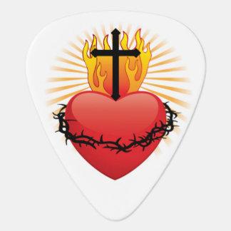 ハート及び十字のキリスト教のギターピックのPlectrum ギターピック