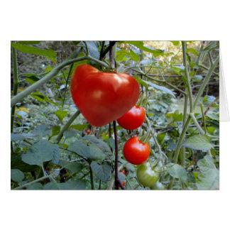 ハート形のトマトメッセージ無し カード