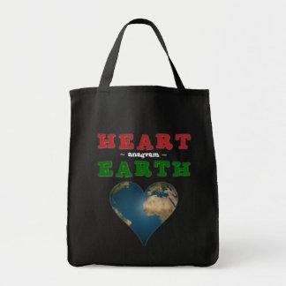 ハート形の地球 トートバッグ
