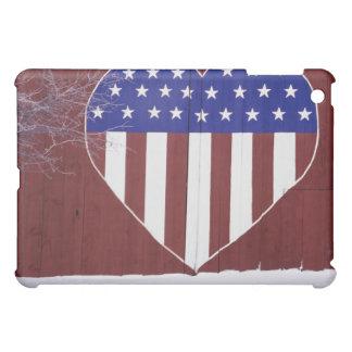 ハート形の星条旗 iPad MINI カバー
