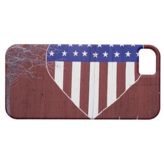 ハート形の星条旗 iPhone 5 COVER